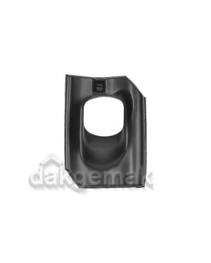 Dakdoorvoerpan 131 Holle 25-45° 1-pans A zwart