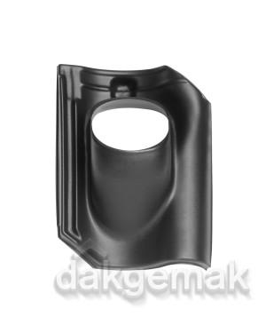 Dakdoorvoerpan 131 OVH (alle typen) 25-45° 1-pans BIJ zwart