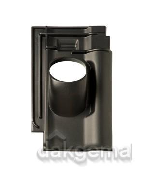 Dakdoorvoerpan 131 Alegra 10 25-45° 1-pans zwart