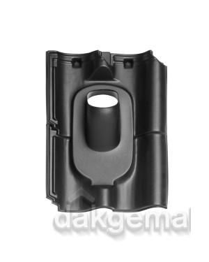 Dakdoorvoerpan 131 OVH (alle typen) 35-55° 4-pans BIJ zwart