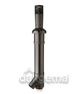 MultiVent 5V Combi Dakdoorvoer 2x125 1650mm zwart