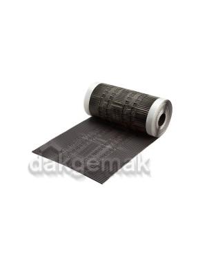 Airtec Nok- en hoekkeper ALU 330mm x 5m zwart
