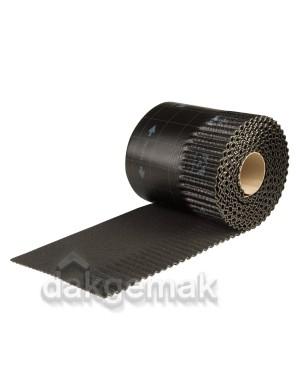 Ubiflex Ribbel Loodvervanger 300mm x 6m zwart