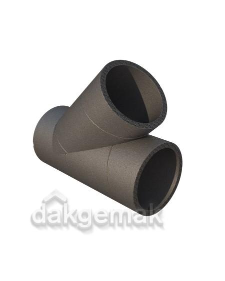 Aerfoam geïsoleerd leidingsysteem T-stuk 45° EPS 150 grijs