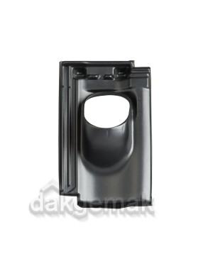 Dakdoorvoerpan 131 Mulden Hol 25-45° 1-pans BP zwart