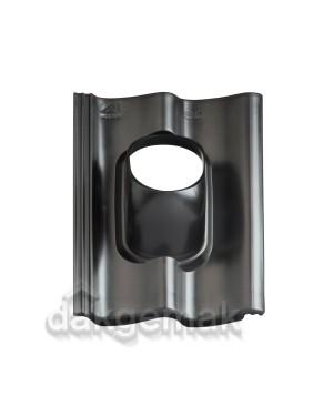 Dakdoorvoerpan 131 Sneldek 25-45° 1-pans SND zwart
