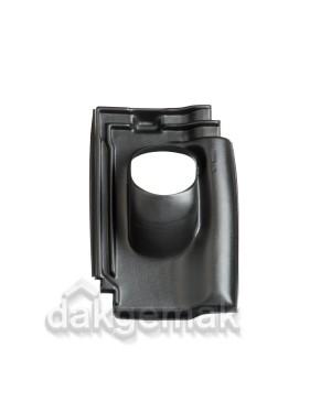 Dakdoorvoerpan 131 FD groot Koramic 25-45° 1-pans FDK zwart