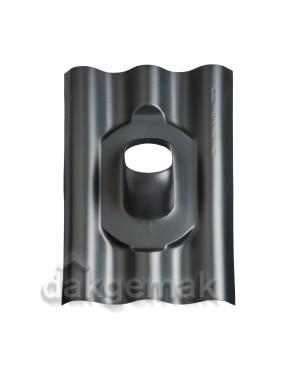 Dakdoorvoerpan 131 Eternit 177 x 51mm 25-45° Golfplaat GPN zwart