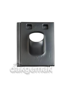 Dakdoorvoerpan 131 Stonewold 25-45° 1-pans STO zwart