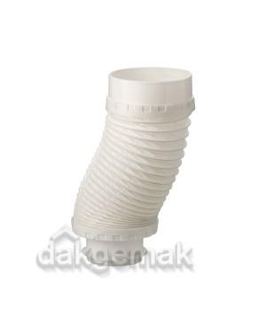 Aansluitstuk Flexibel KS 131-100 650mm voor ventilatiedakdoorvoer wit