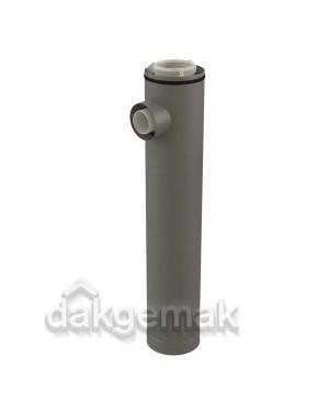 Rolux CLV Etage T-stuk PP/metaal 125/200 - 1x80/125