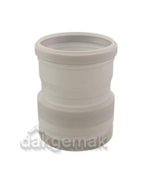 Rolux Flex Koppelstuk Flex/mof-110 PP 110 transparant