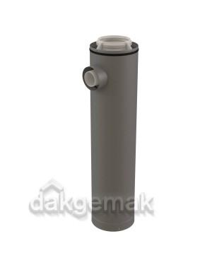 Rolux CLV Etage T-stuk PP/metaal 160/250-1x80/125