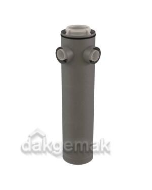 Rolux CLV Etage T-stuk PP/metaal 160/250-2x80/125 hoek 90°