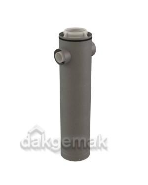Rolux CLV Etage T-stuk PP/metaal 160/250-2x80/125 hoek 180°