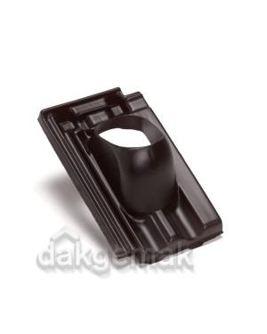 Dakdoorvoerpan 131 Mulden Vlak 25-45° 1-pans G zwart