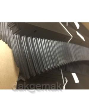 Vogelschroot, kunststof, Zwart kam 55mm