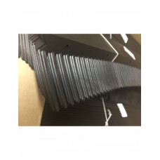 Vogelschroot, kunststof, Zwart kam 65mm